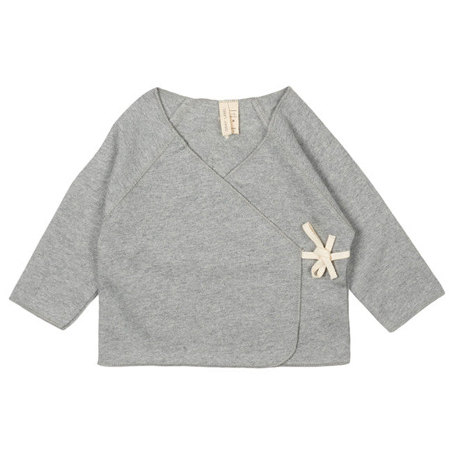 Gray Label Grey Melange Baby Crossover Top - Ladida