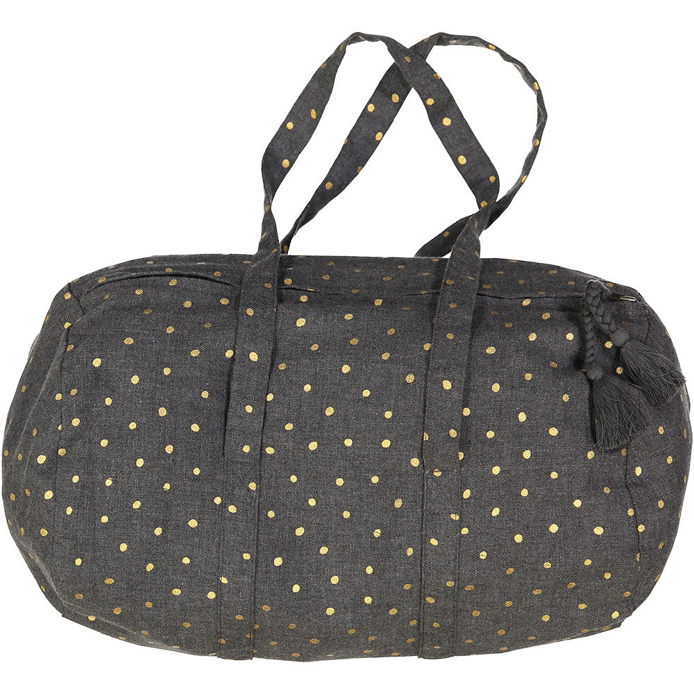Louis Louise Grey Dot Duffel - Ladida