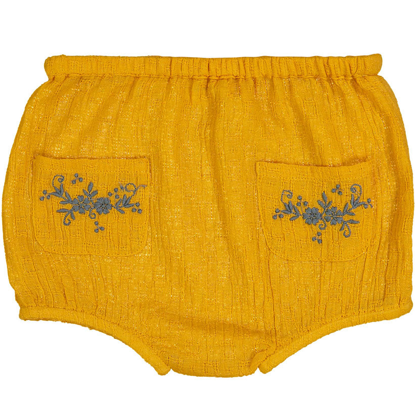 Louis Louise Yellow Embroidered Yaya Bloomers