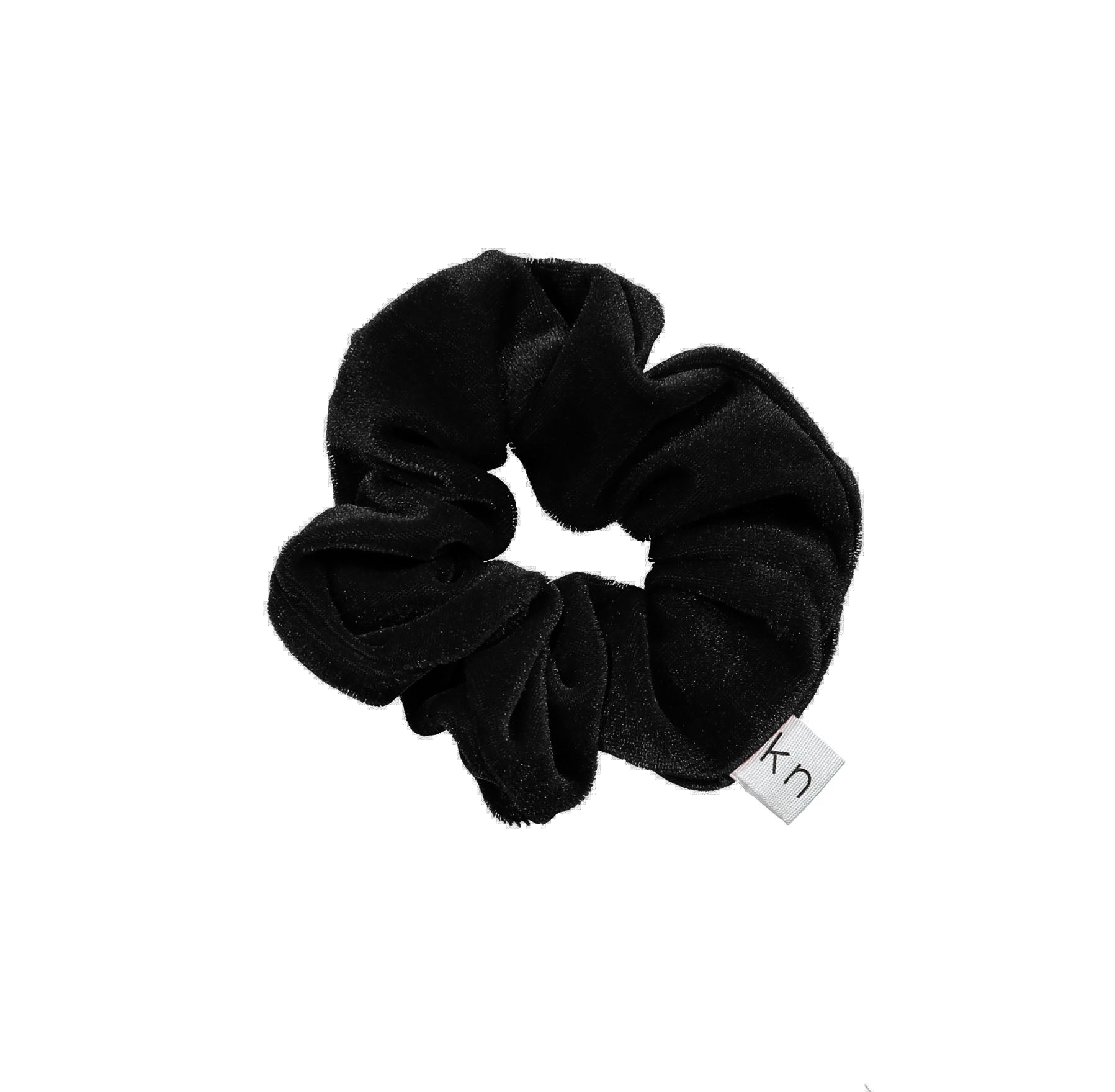Knot Hairbands Raven Black Classic Scrunchie - Ladida