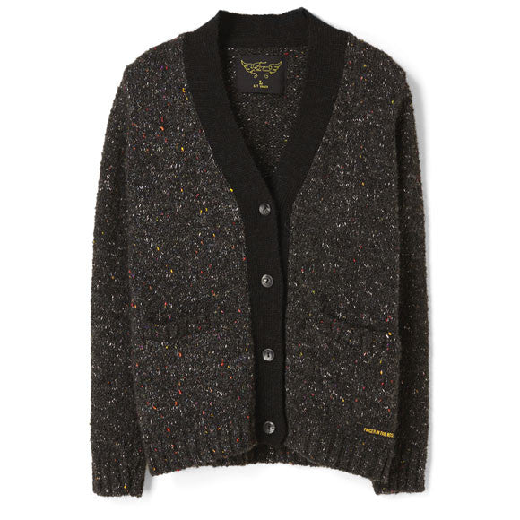 Finger in the Nose Heather Black Cardigan