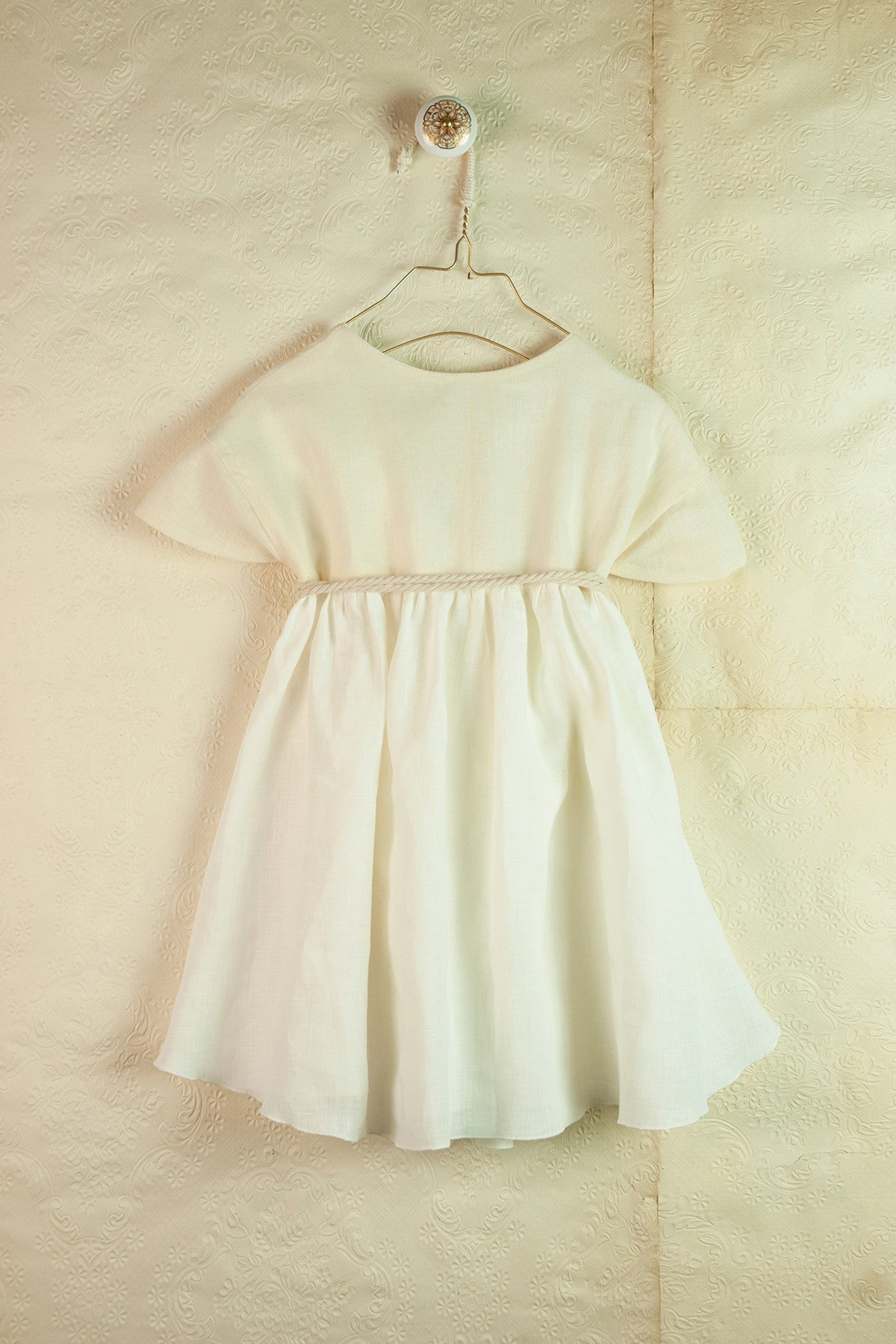 Popelin White Japanese Reversible Dress - Ladida