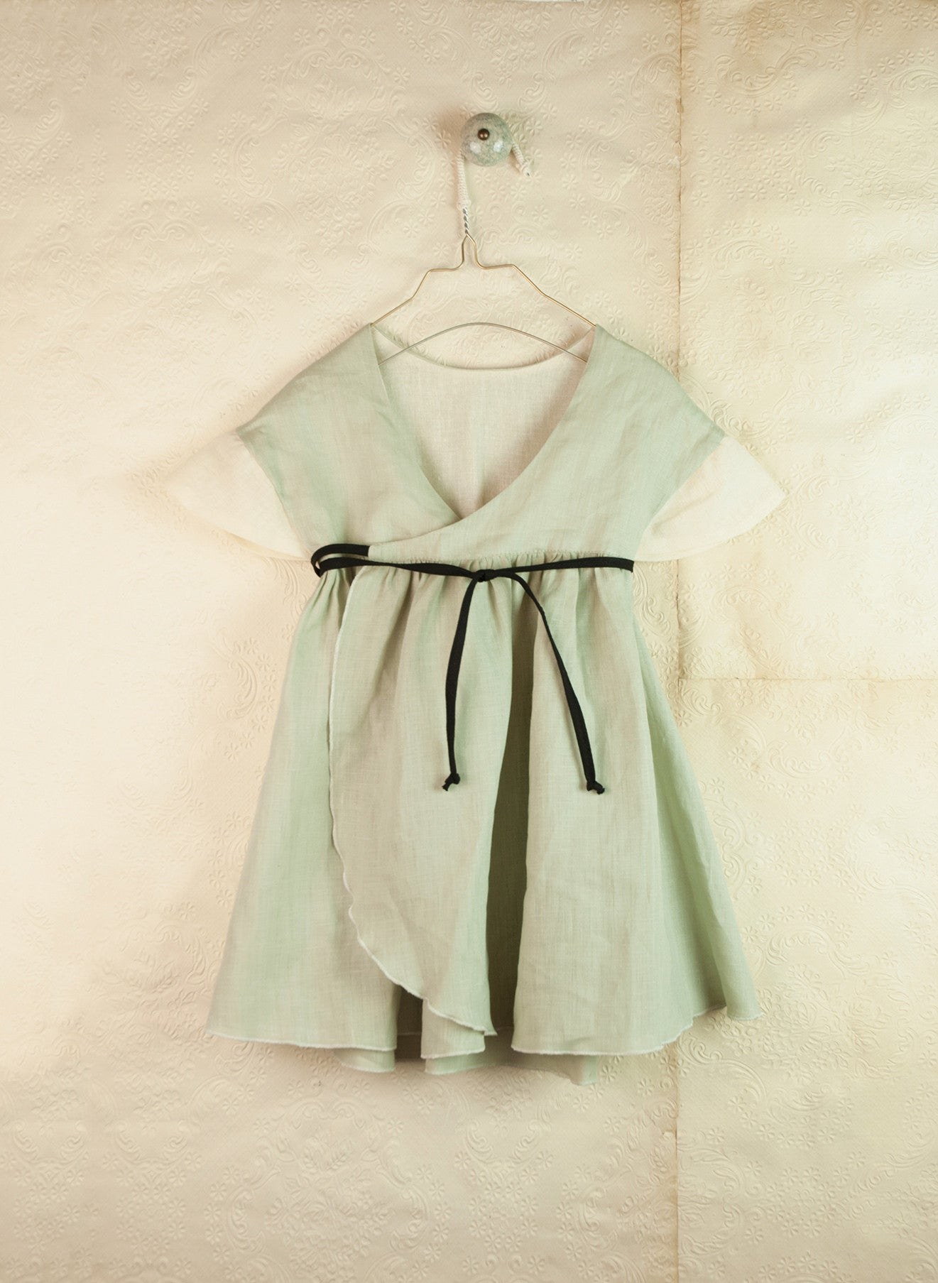 Popelin Green Japanese Reversible Dress - Ladida