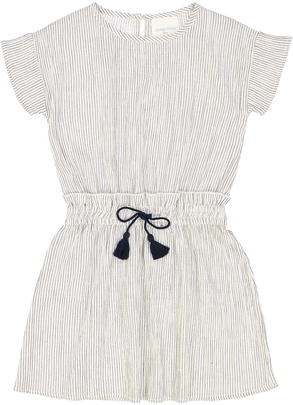 Louis Louise Navy/White Striped Tina Dress - Ladida