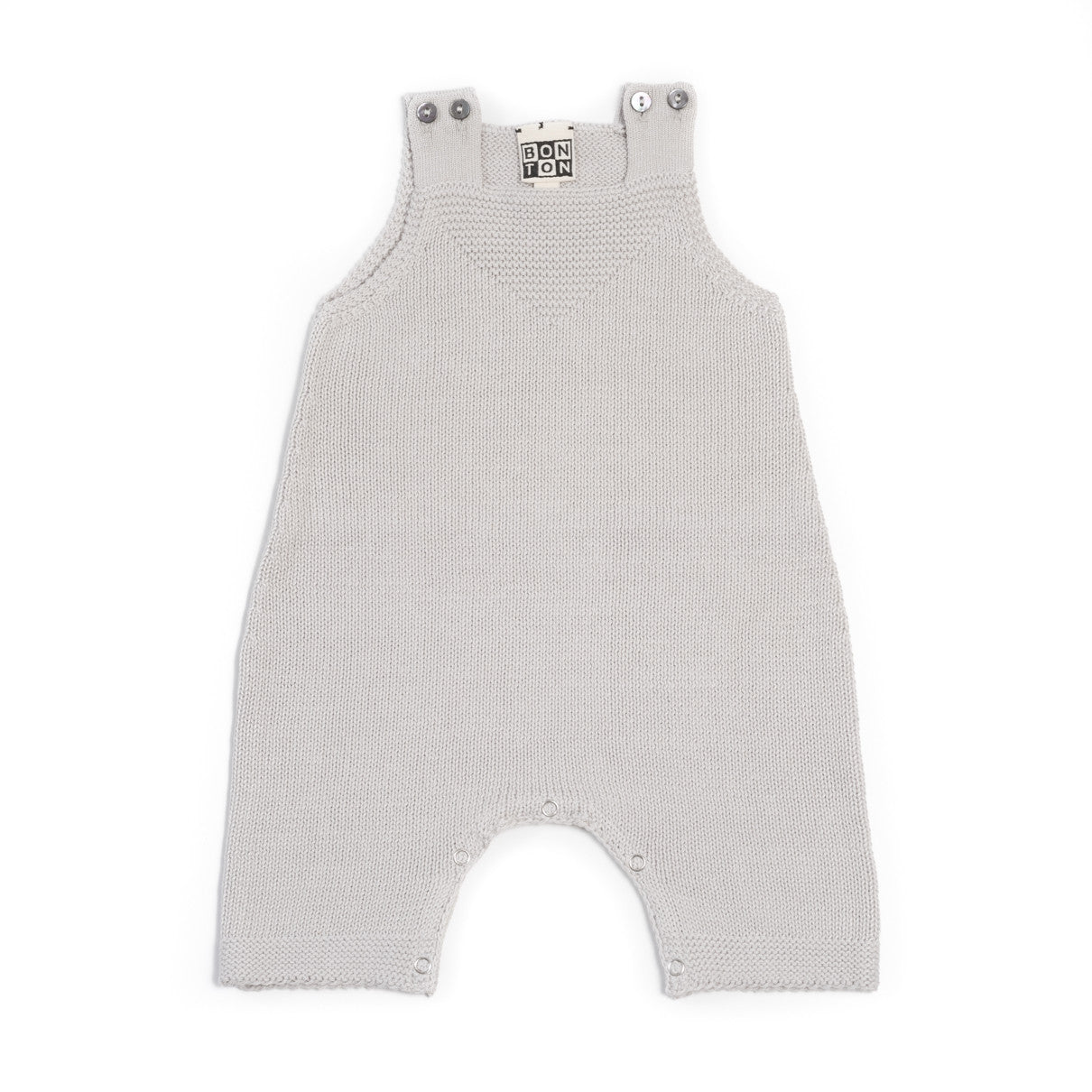 Bonton Grey Knit Baby Romper - Ladida