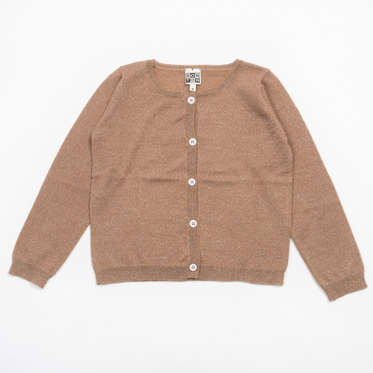Bonton Brown Lurex Cardigan - Ladida