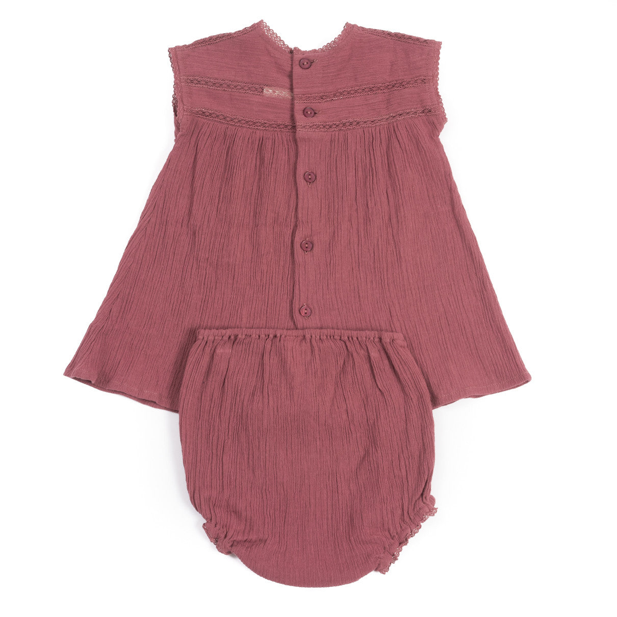 Bonton Brunette Gauze Baby Dress - Ladida