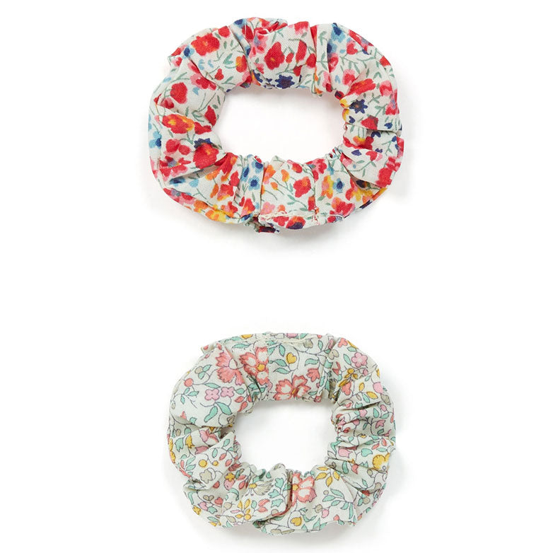 Bonton Green Floral Scrunchies