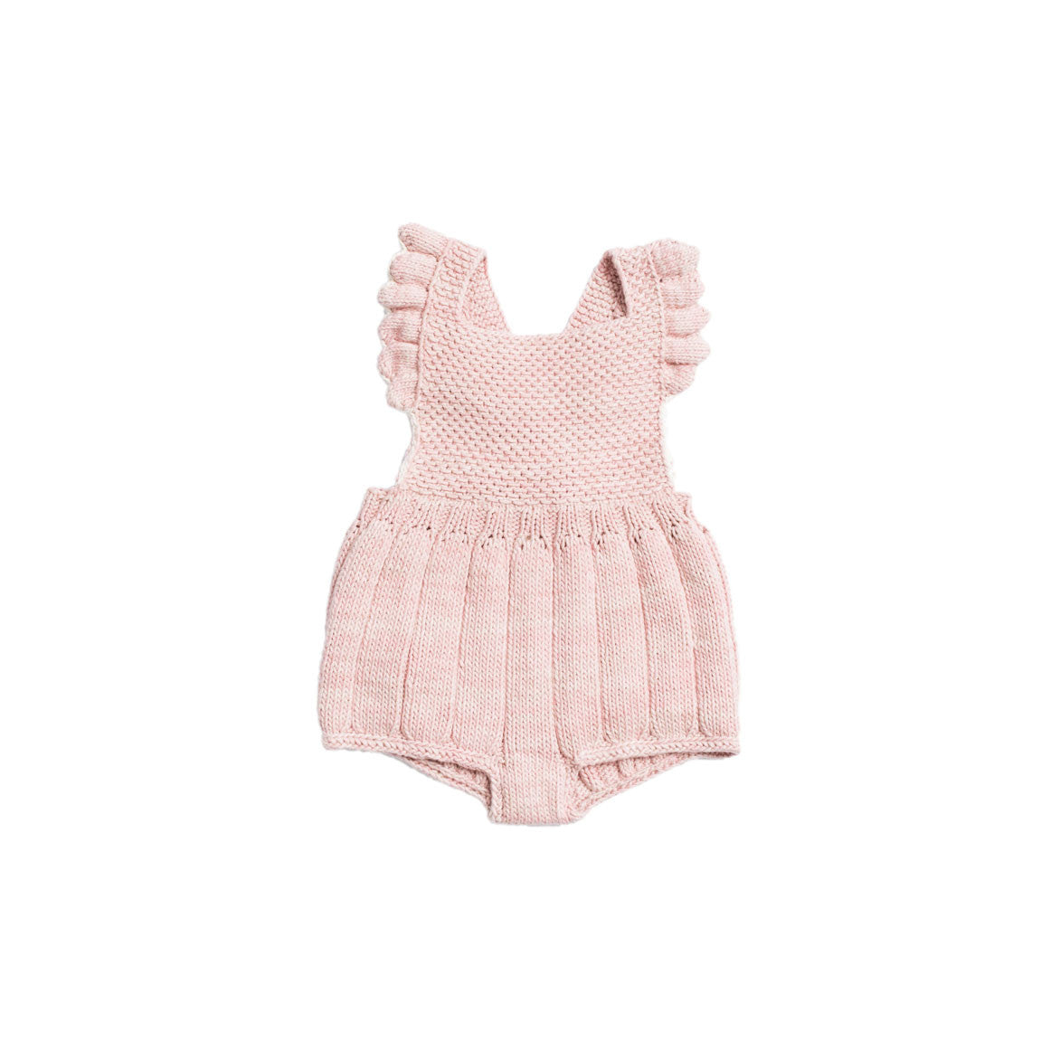 Misha & Puff Pink Sand/Natural Eleanor Sunsuit - Ladida