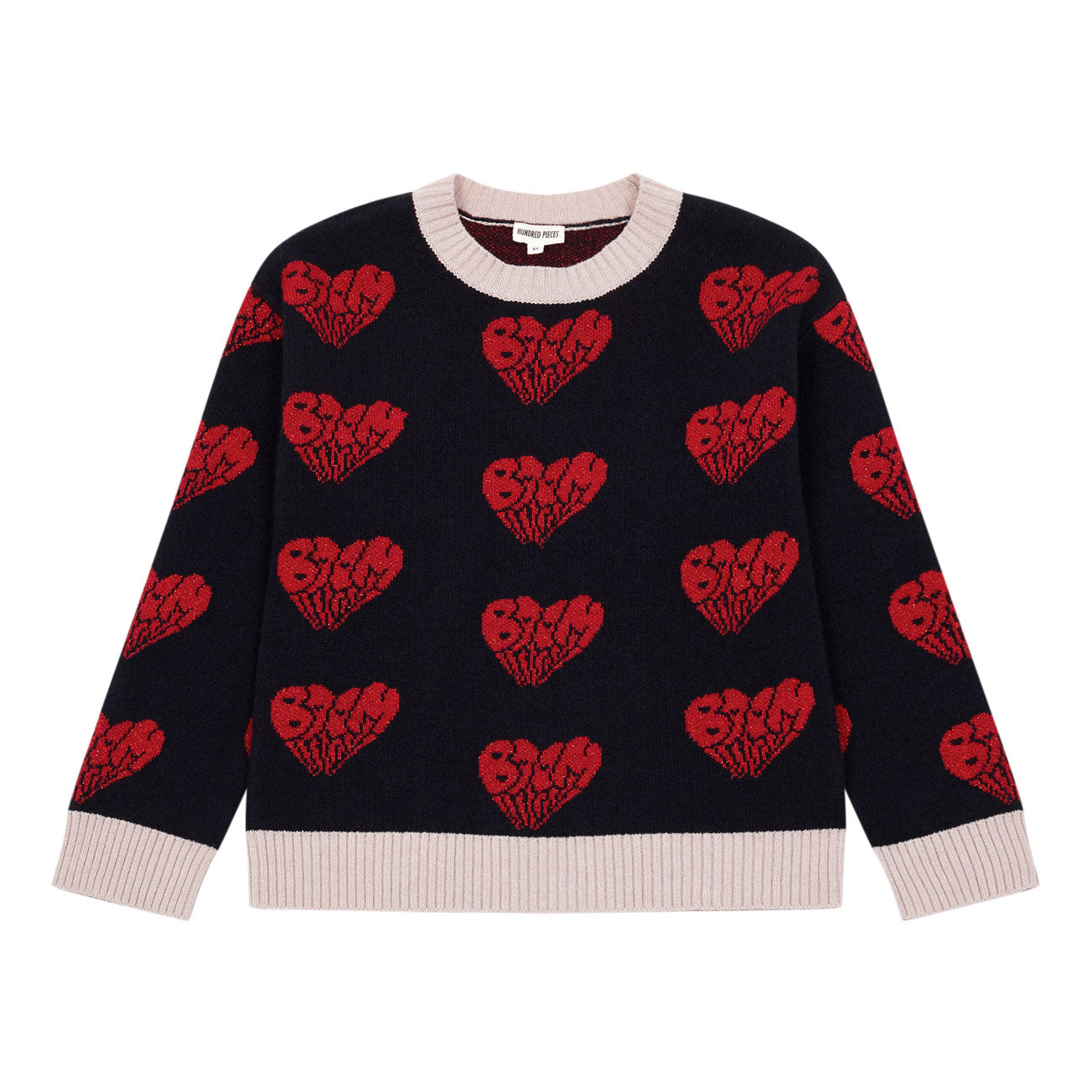 Hundred Pieces Midnight Blue Heart Pullover
