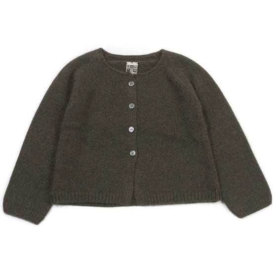 Bonton Military Green Lurex Cardigan - Ladida