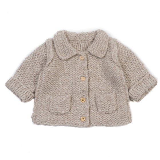 Bonton Beige Pinpoint Baby Sweater - Ladida