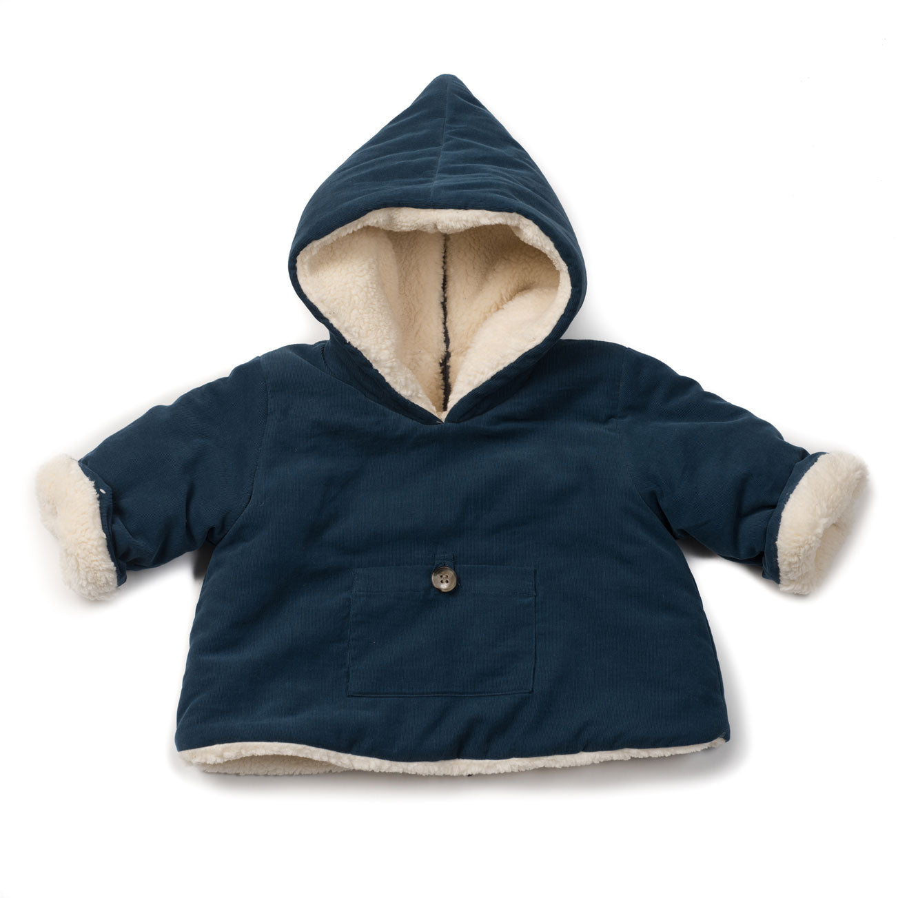 71405ffa1af5 Bonton Shark Blue Burnout Baby Jacket | Ladida