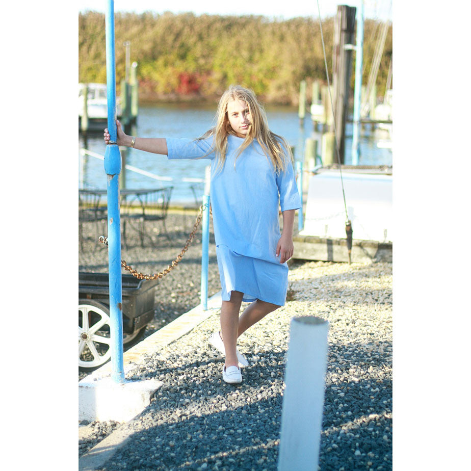 Ava & Lu Day At Sea Blue Dress - Ladida