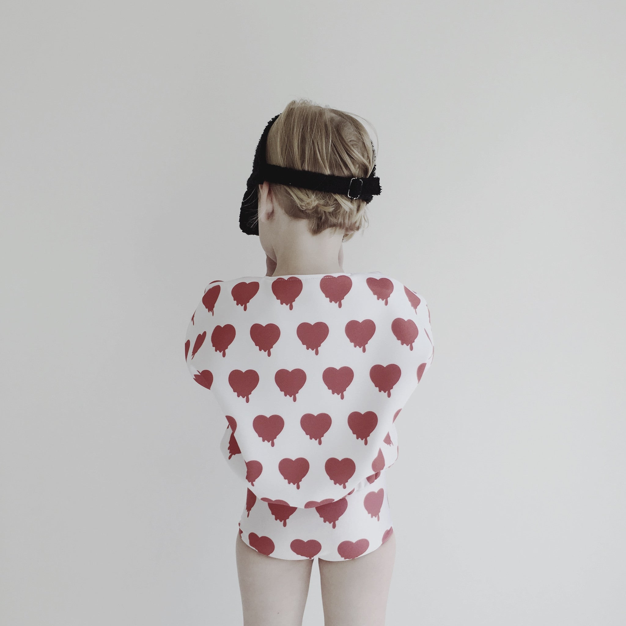 Caroline Bosmans Red Heart Print Sweater