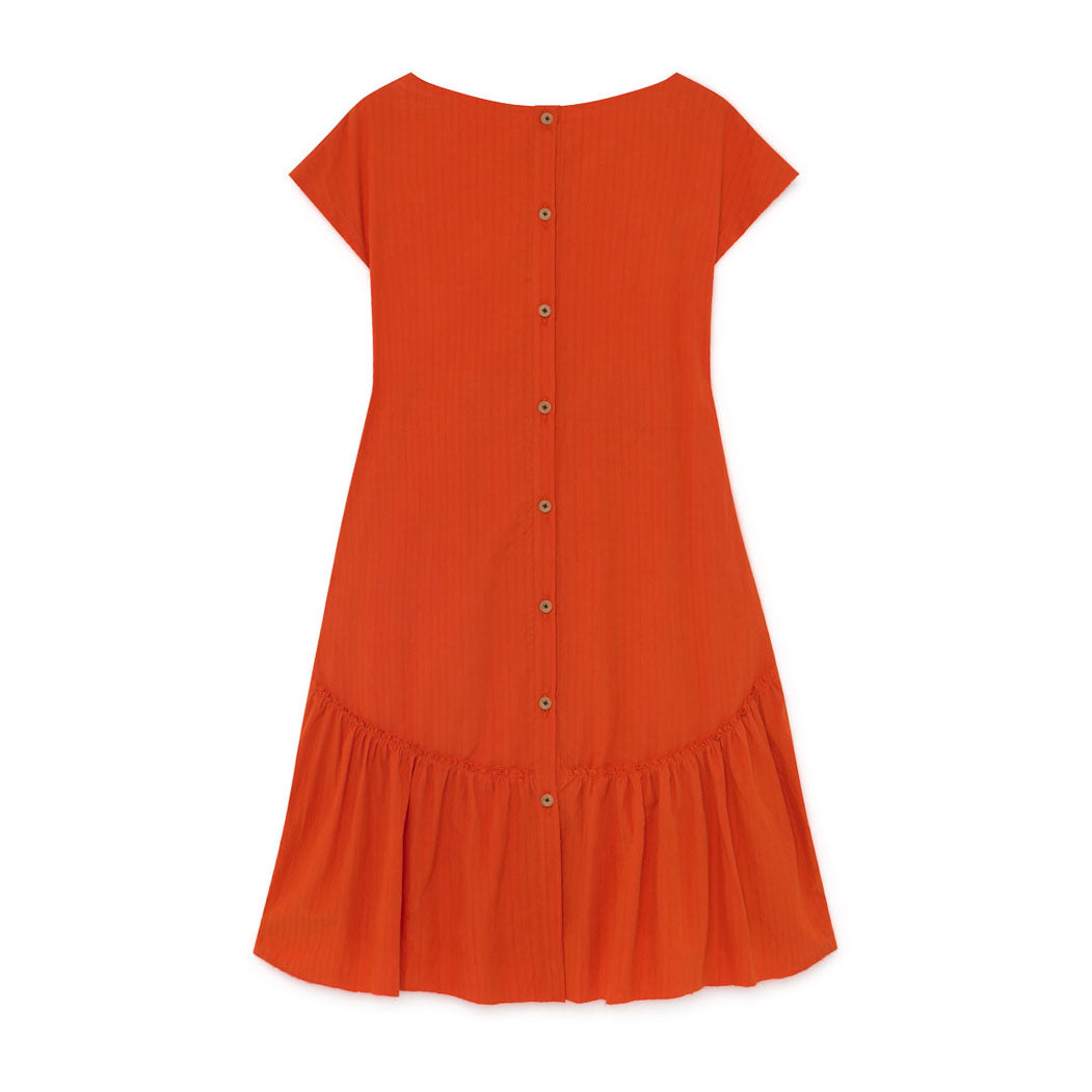 Little Creative Factory Orange Crushed Cotton Dress
