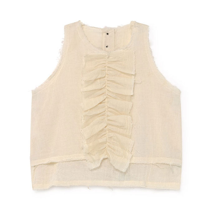 Little Creative Factory Cream Muslin Ruffle Sun Top