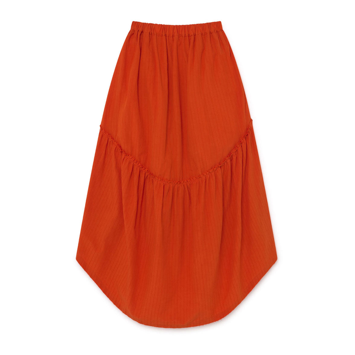 Little Creative Factory Orange Crushed Cotton Skirt