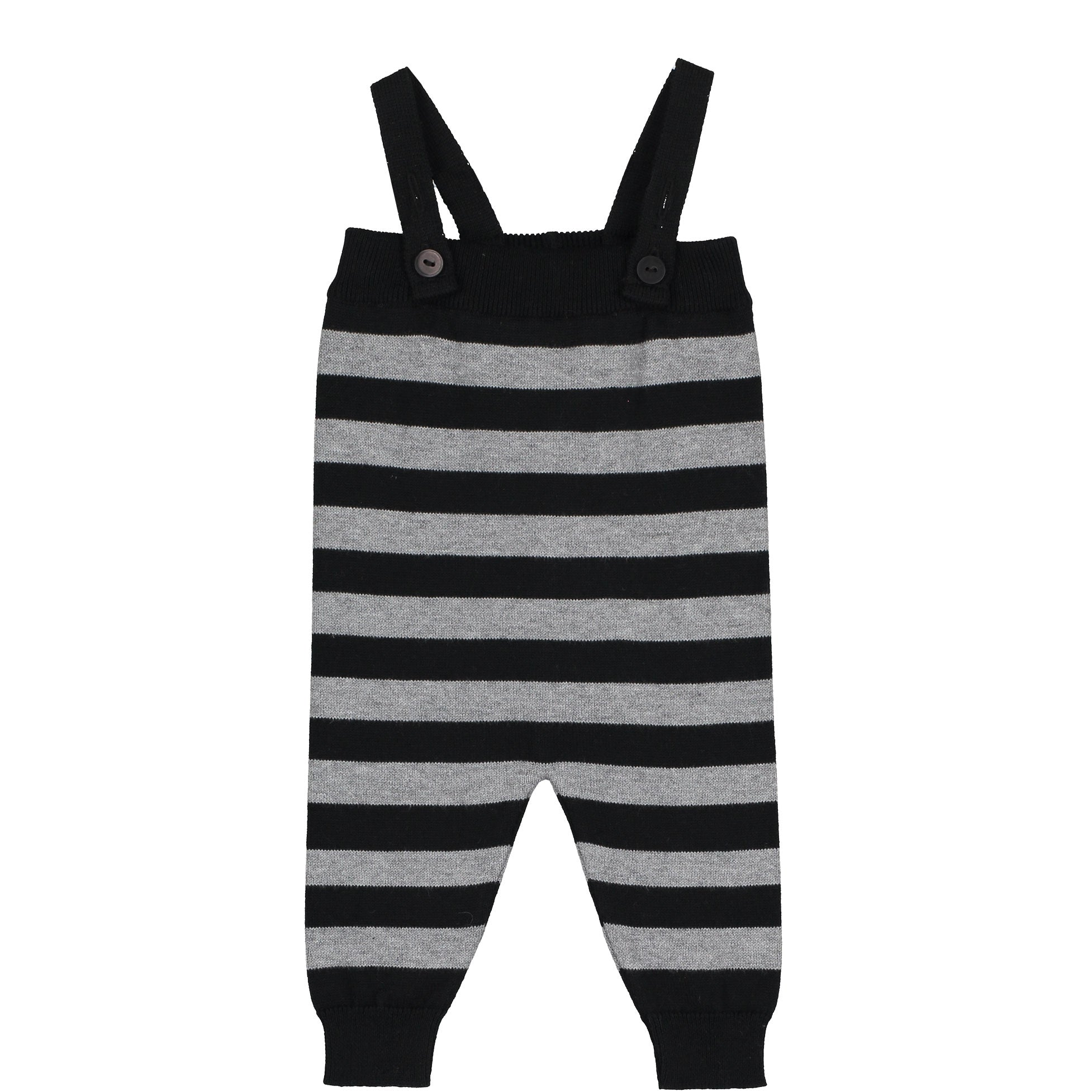 Mini Sibling Grey Stripes Tricot Romper - Ladida