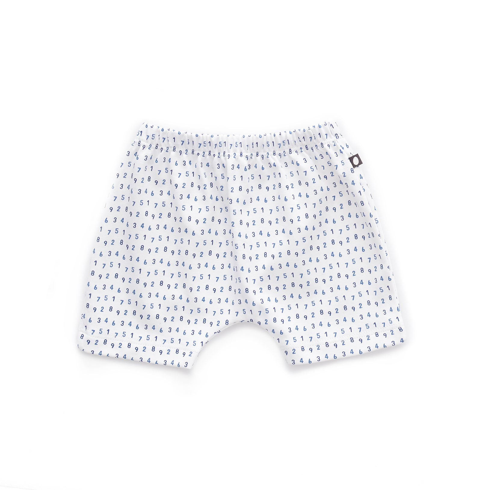 Oeuf White Numbers Baby Shorts