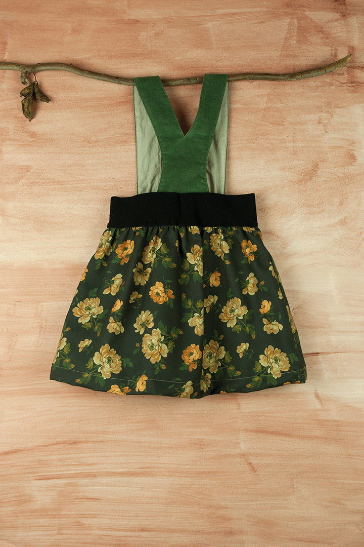 Popelin Floral Skirt with Straps - Ladida