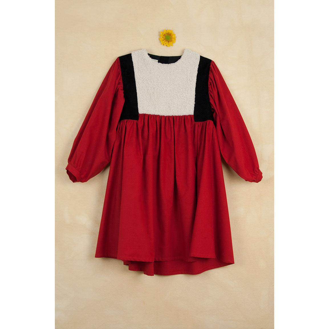 350959c0a2 Popelin Red Waistcoat Dress