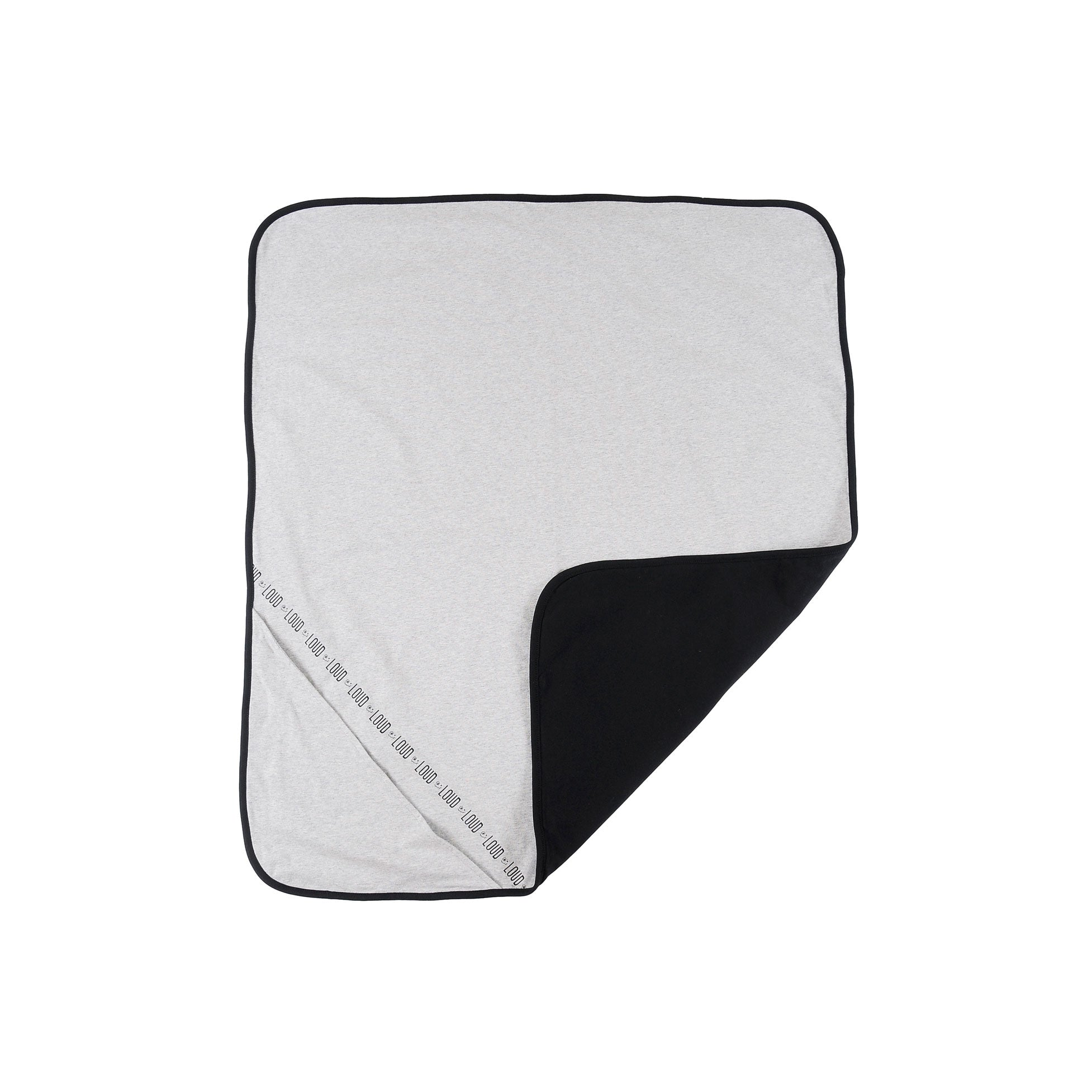 LOUD Grey Melange Logo Reversible Blanket