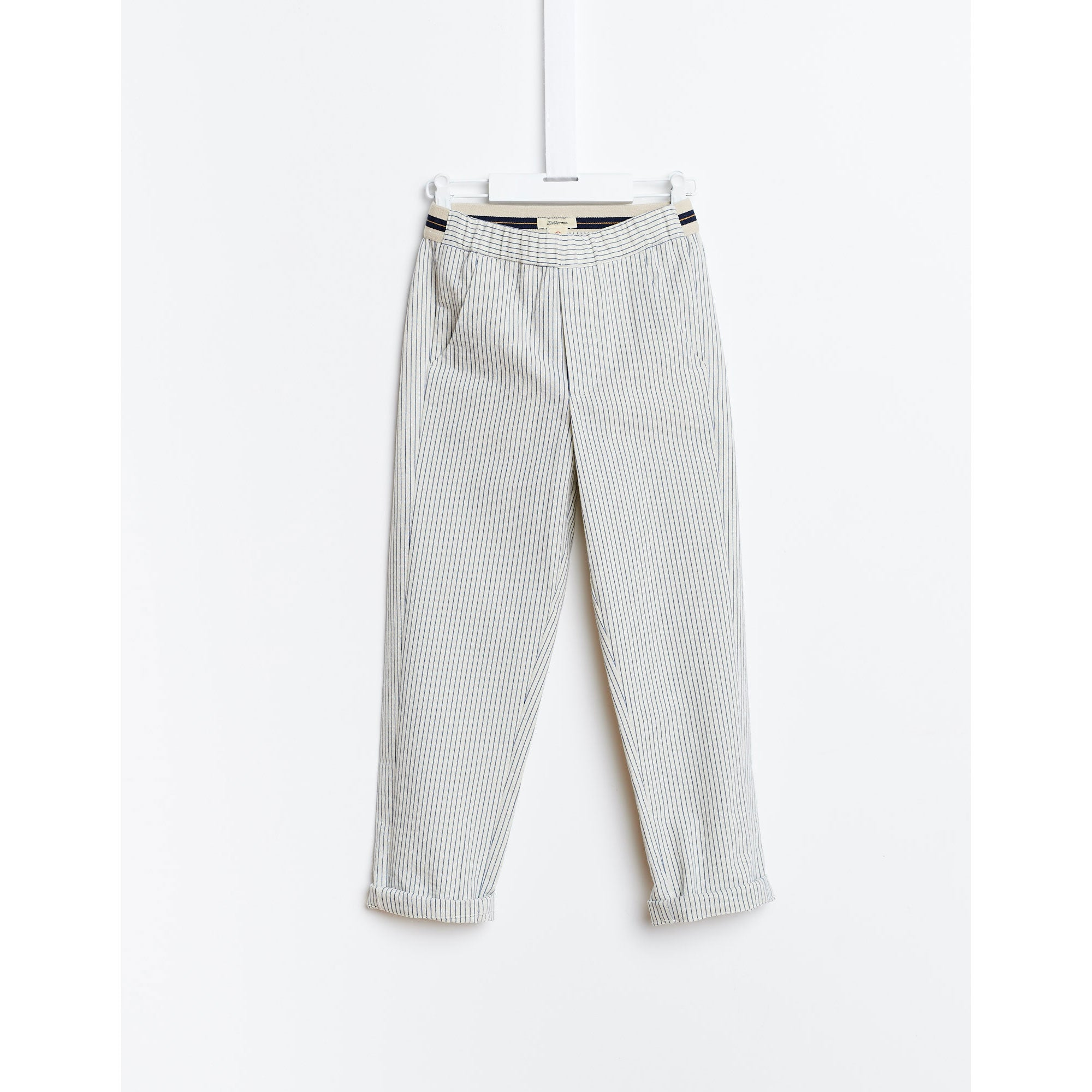 Bellerose Blue Thin Stripe Pants