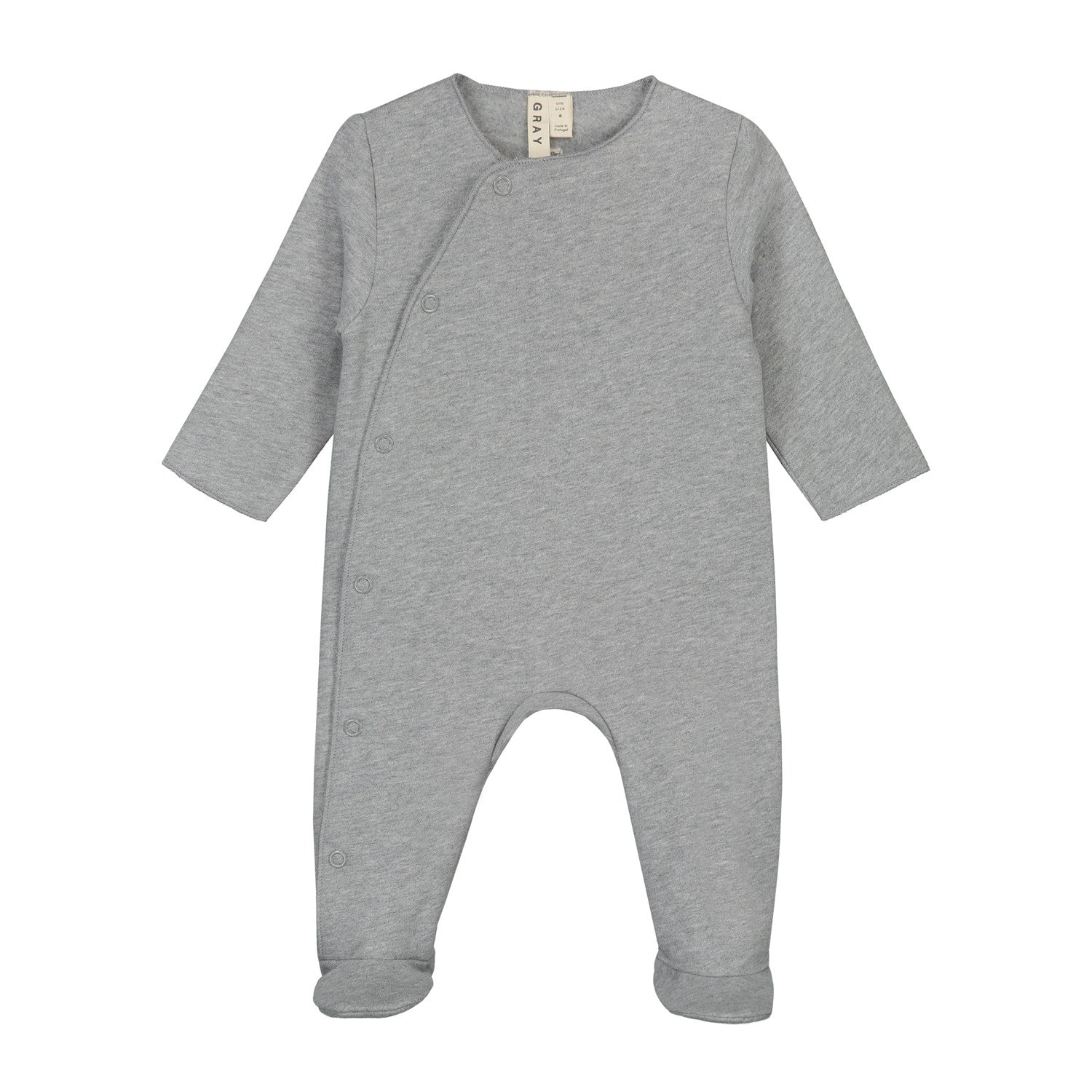 Gray Label Grey Melange Newborn Suit