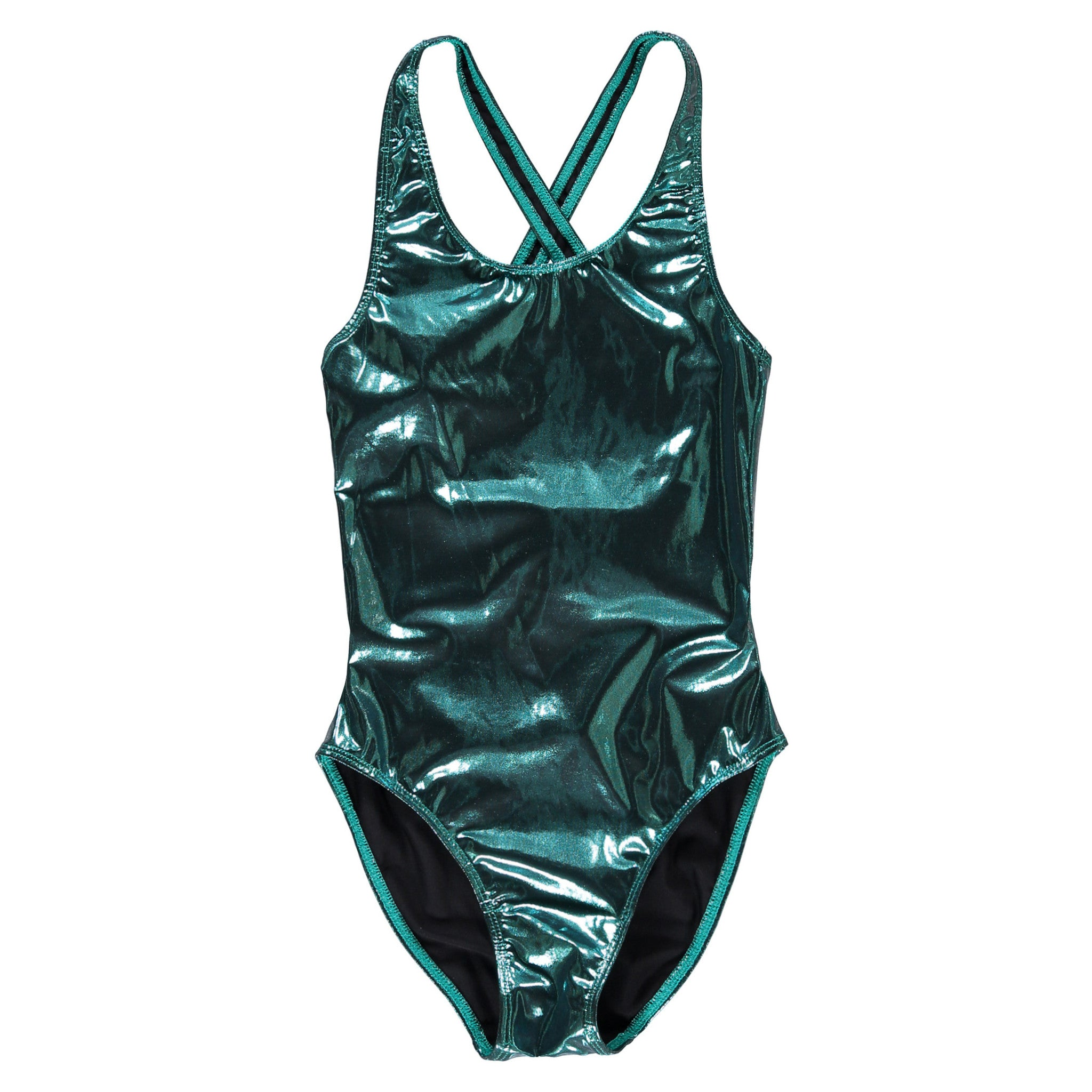 Finger in the Nose Olivia Blue Metal Swimsuit