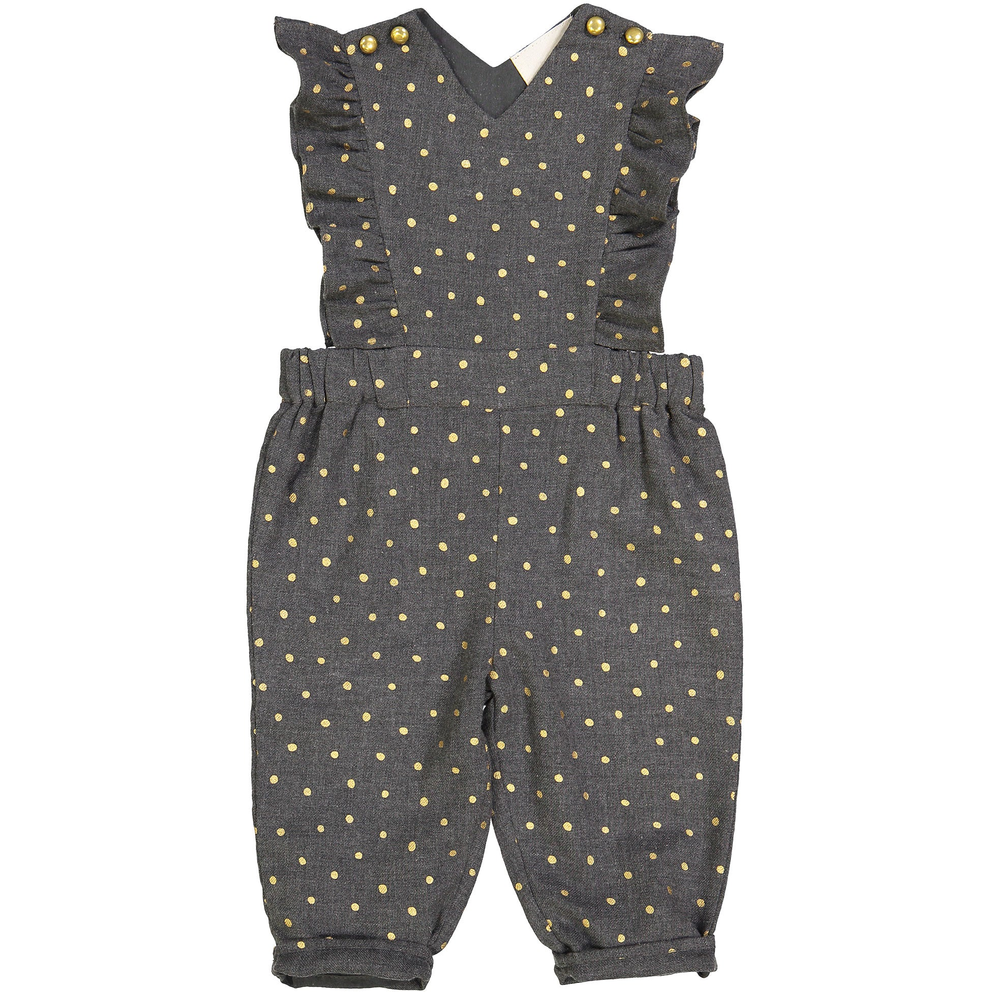 Louis Louise Grey Dot Ysee Overalls - Ladida
