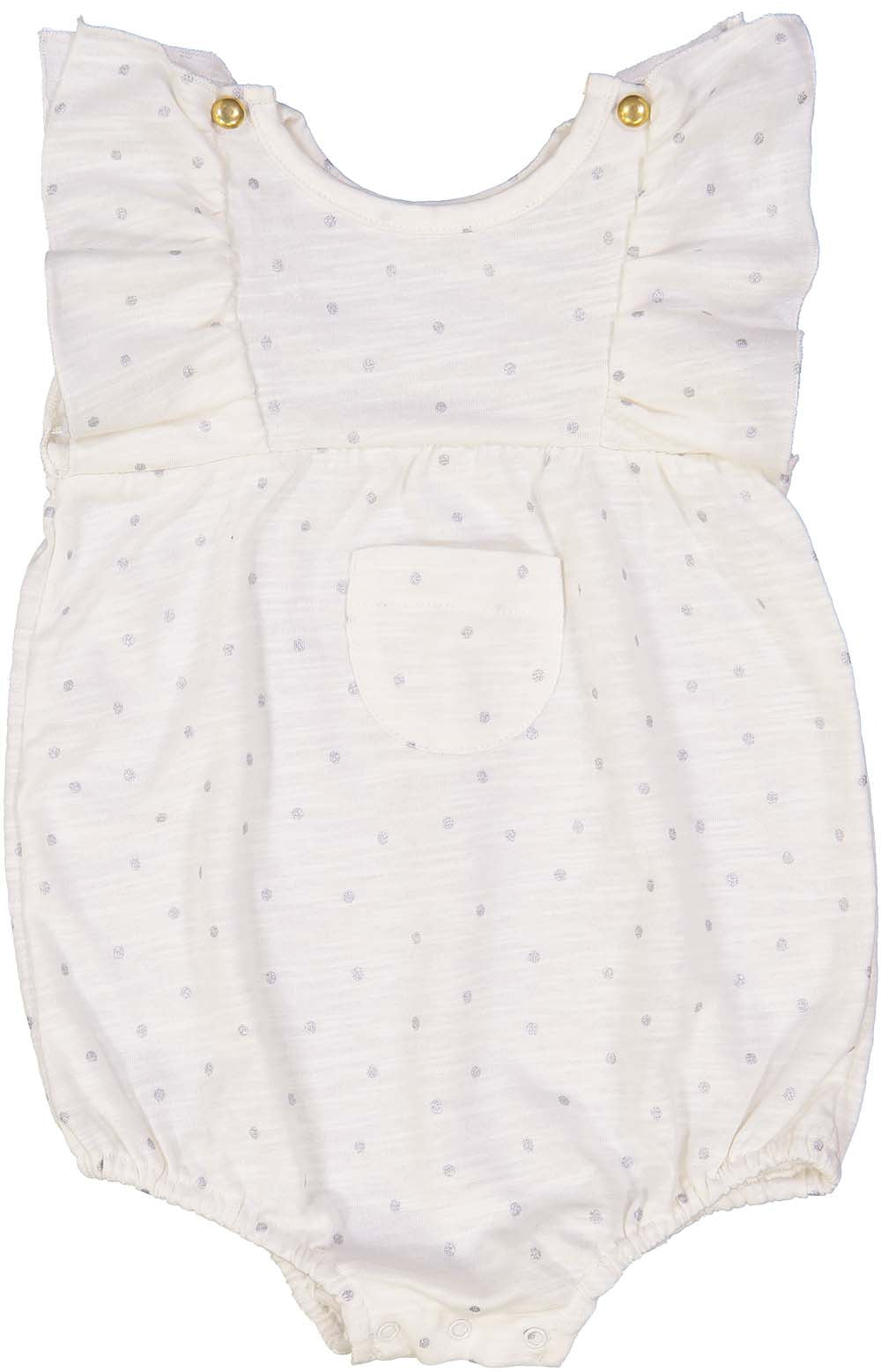 Louis Louise Silver Dot Violin Romper - Ladida