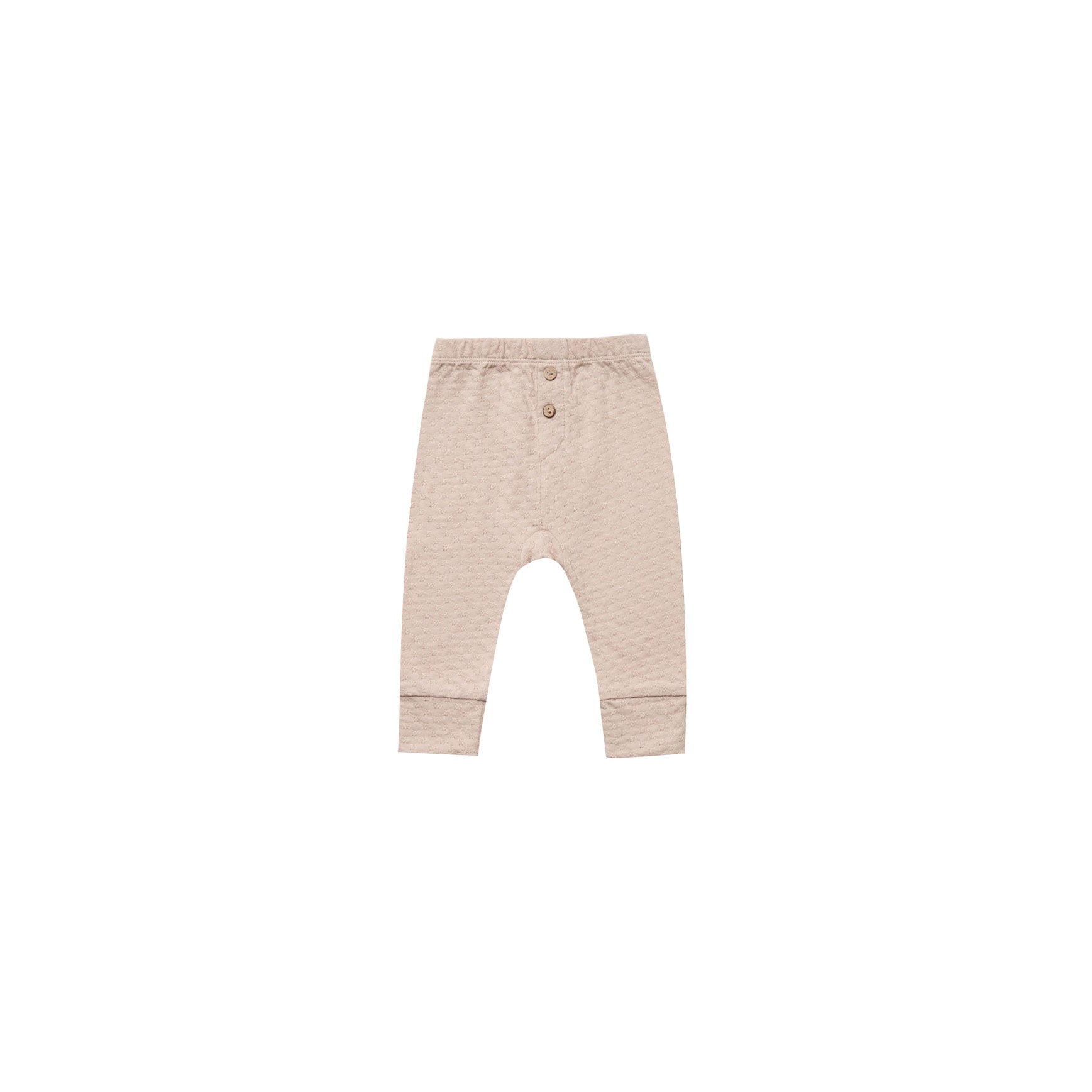 Quincy Mae Rose Organic Pointelle Pajama Pants