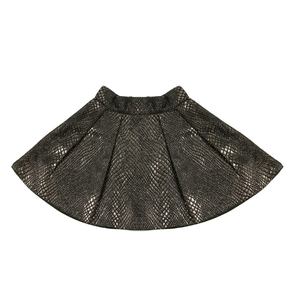 Amour Bows Jacquard Pleated Skirt - Ladida