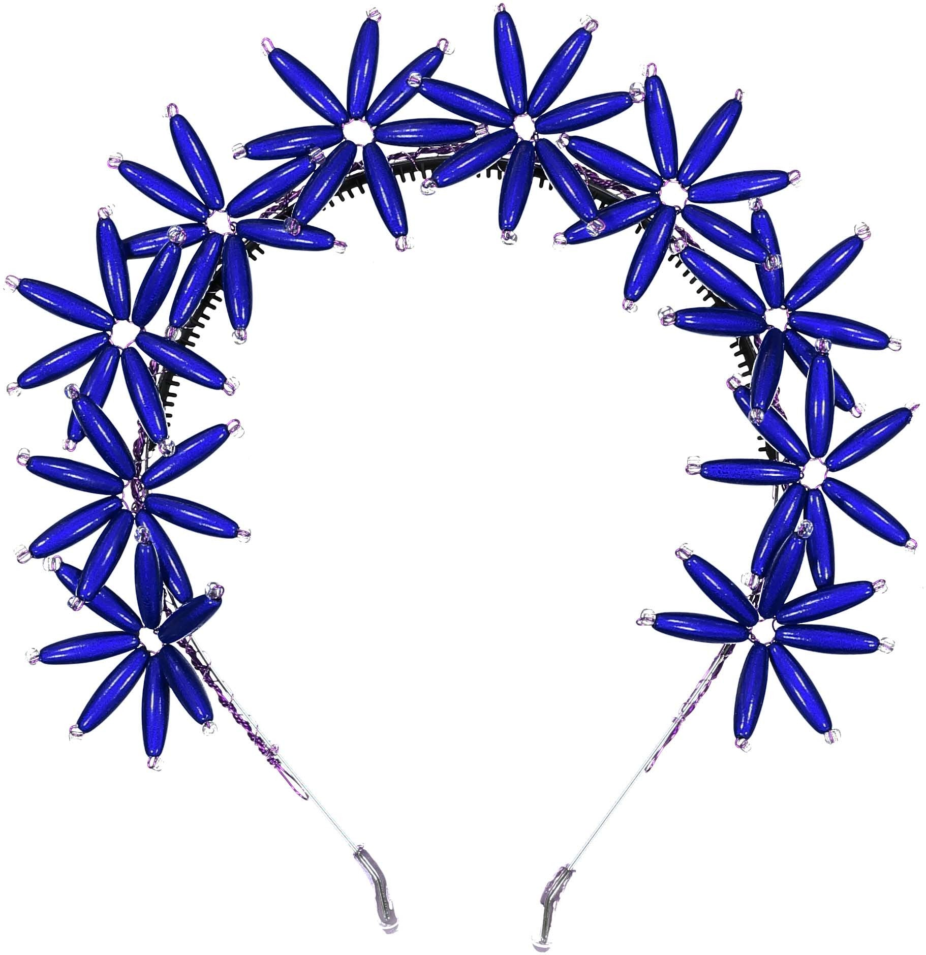 Knot Hairbands Royal Blue Flower Burst Headband - Ladida