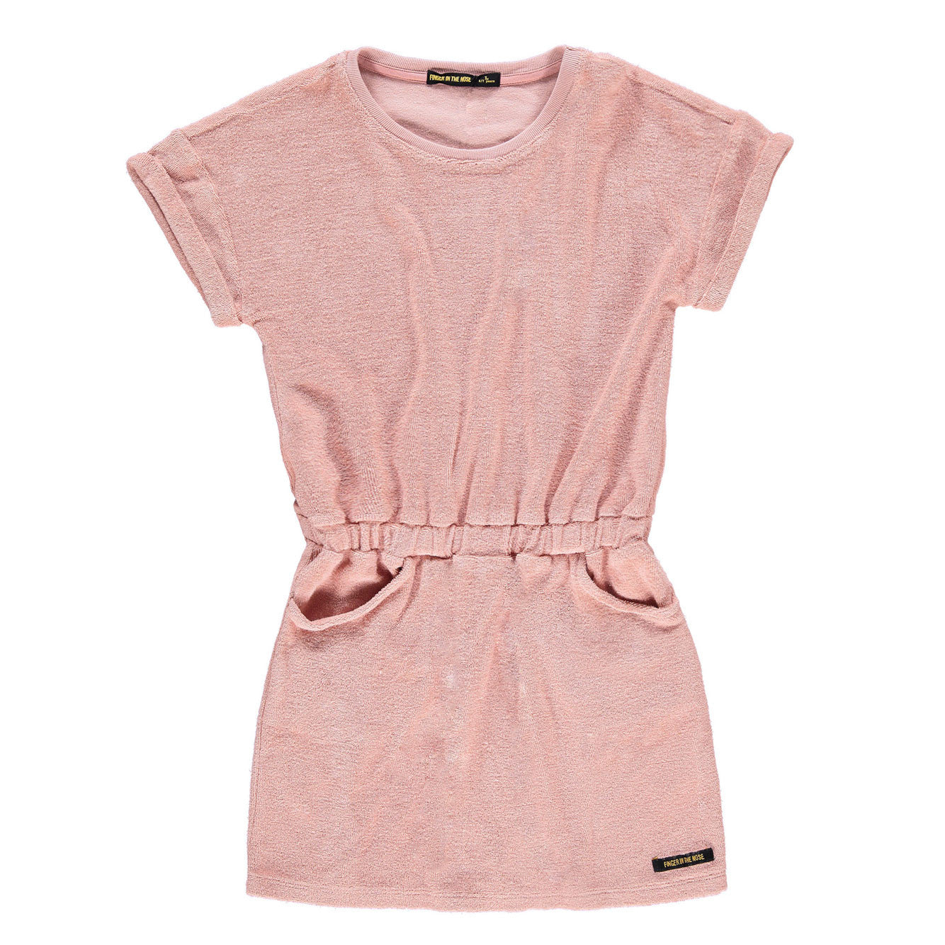 Finger in the Nose School Sand Pink Terry Dresss - Ladida