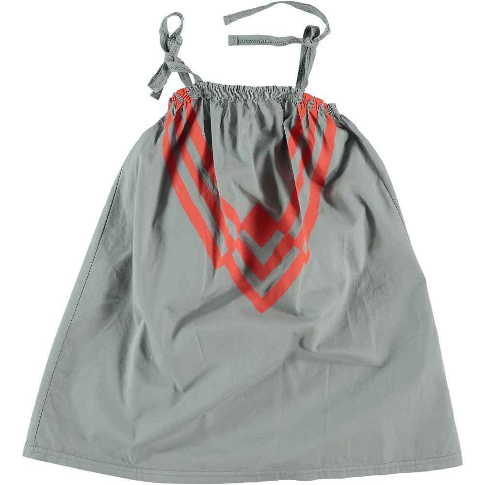 Picnik Grey/Red Lines Dress - Ladida