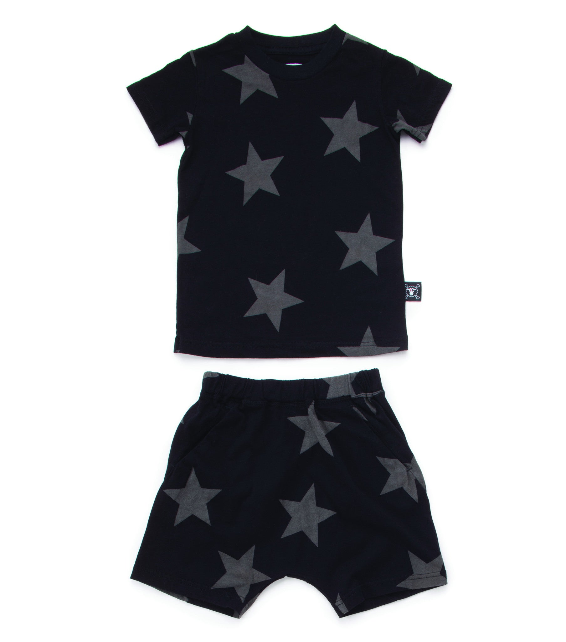 NUNUNU Black Star Short Loungewear - Ladida