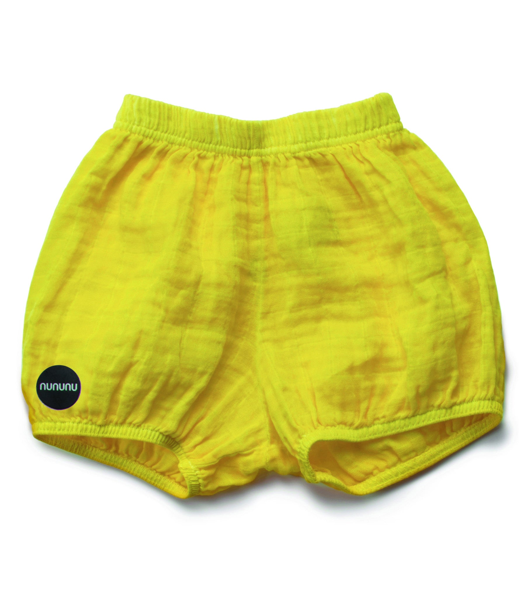 NUNUNU Dusty Yellow Muslin Yoga Shorts - Ladida