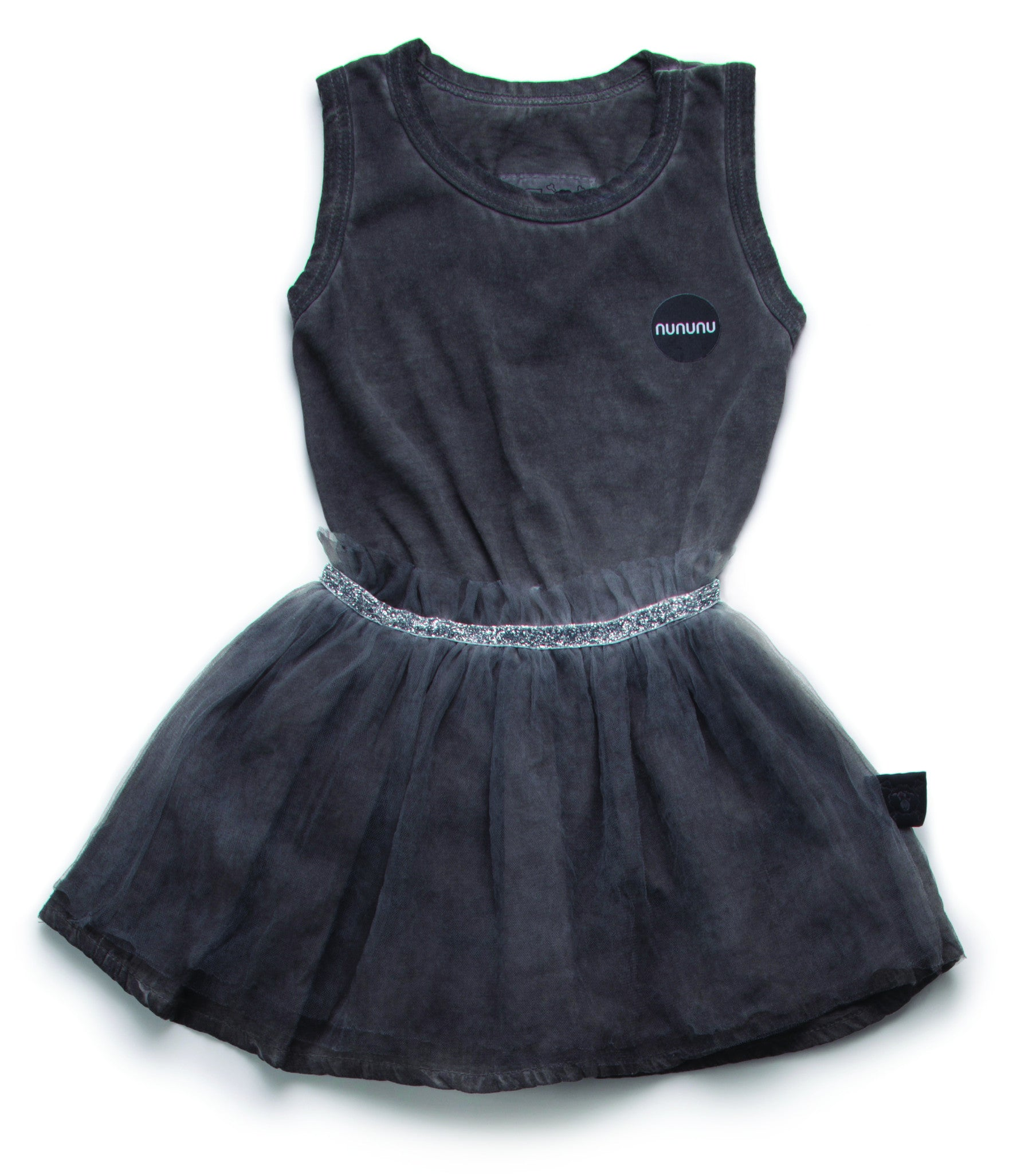 NUNUNU Dyed Grey Tulle Onesie Skirt - Ladida