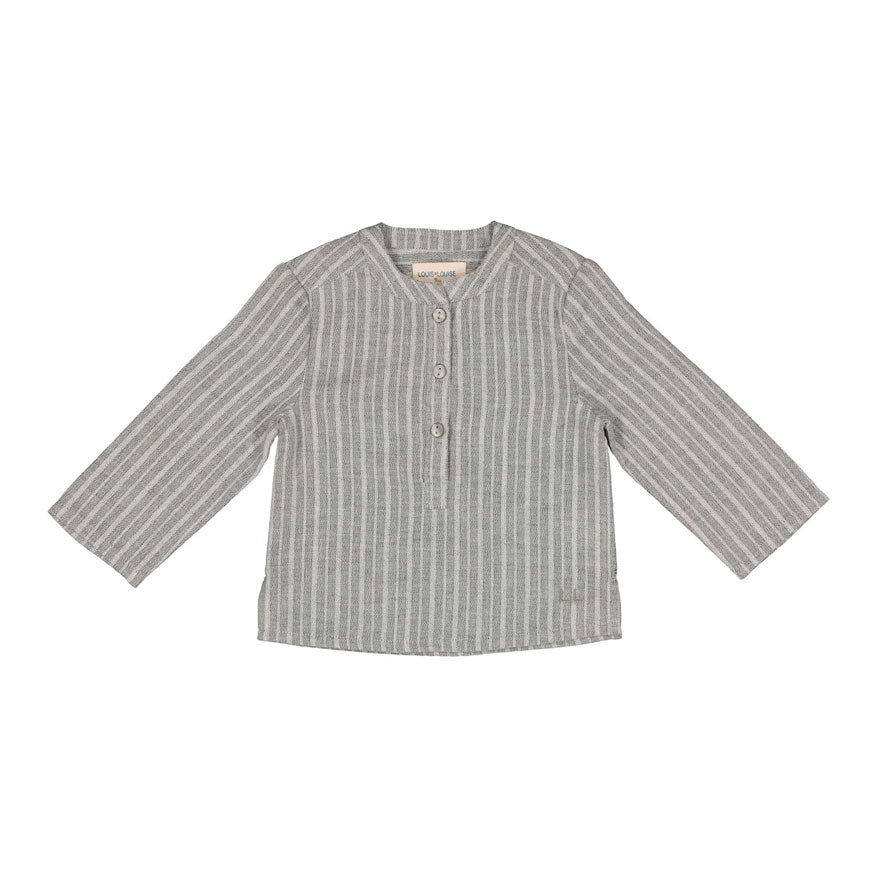 Louis Louise Grey Stripe Grand-Pere Baby Shirt