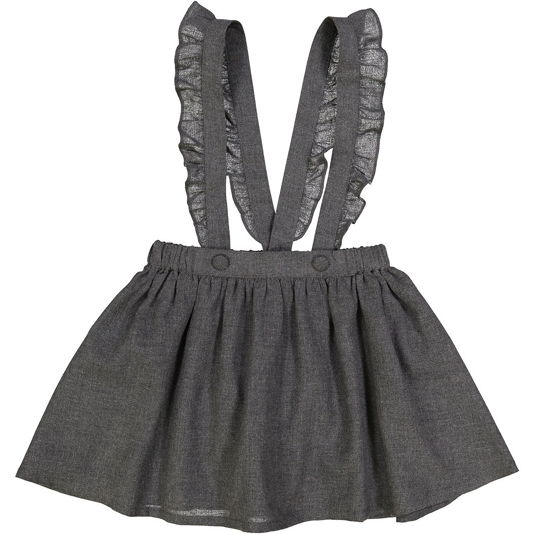 Louis Louise Grey Suspender Skirt - Ladida