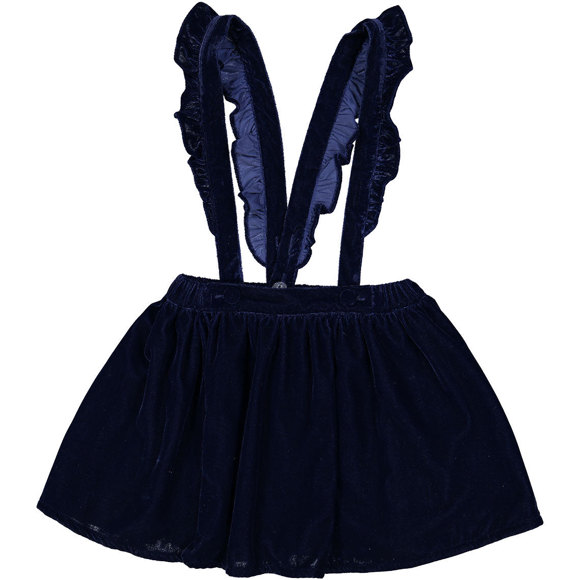 Louis Louise Navy Velvet Suspender Skirt - Ladida