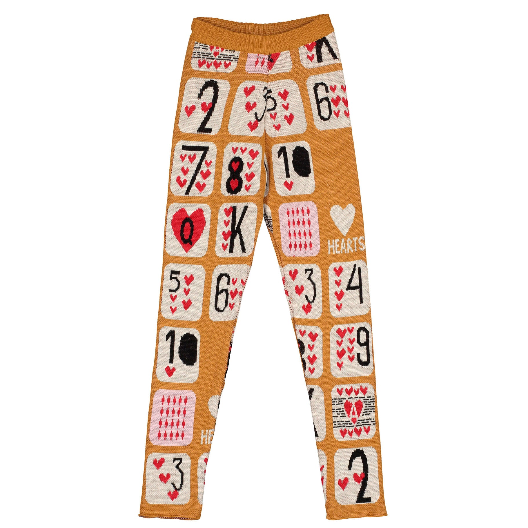 Beau Loves Camel Game of Hearts Knit Leggings
