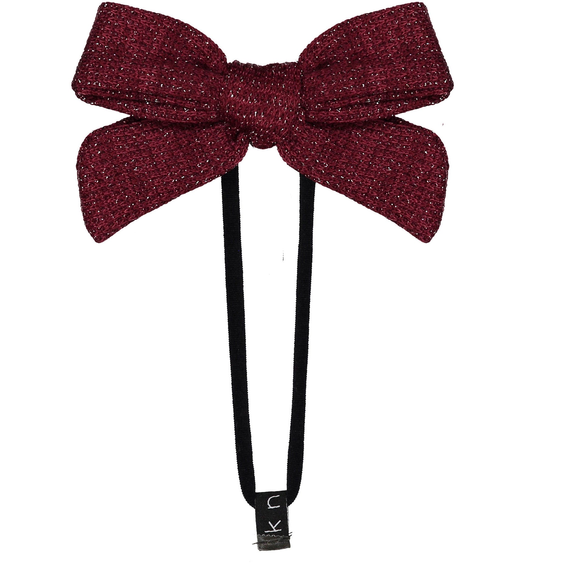 Knot Hairbands Burgundy Sweater Bow Band