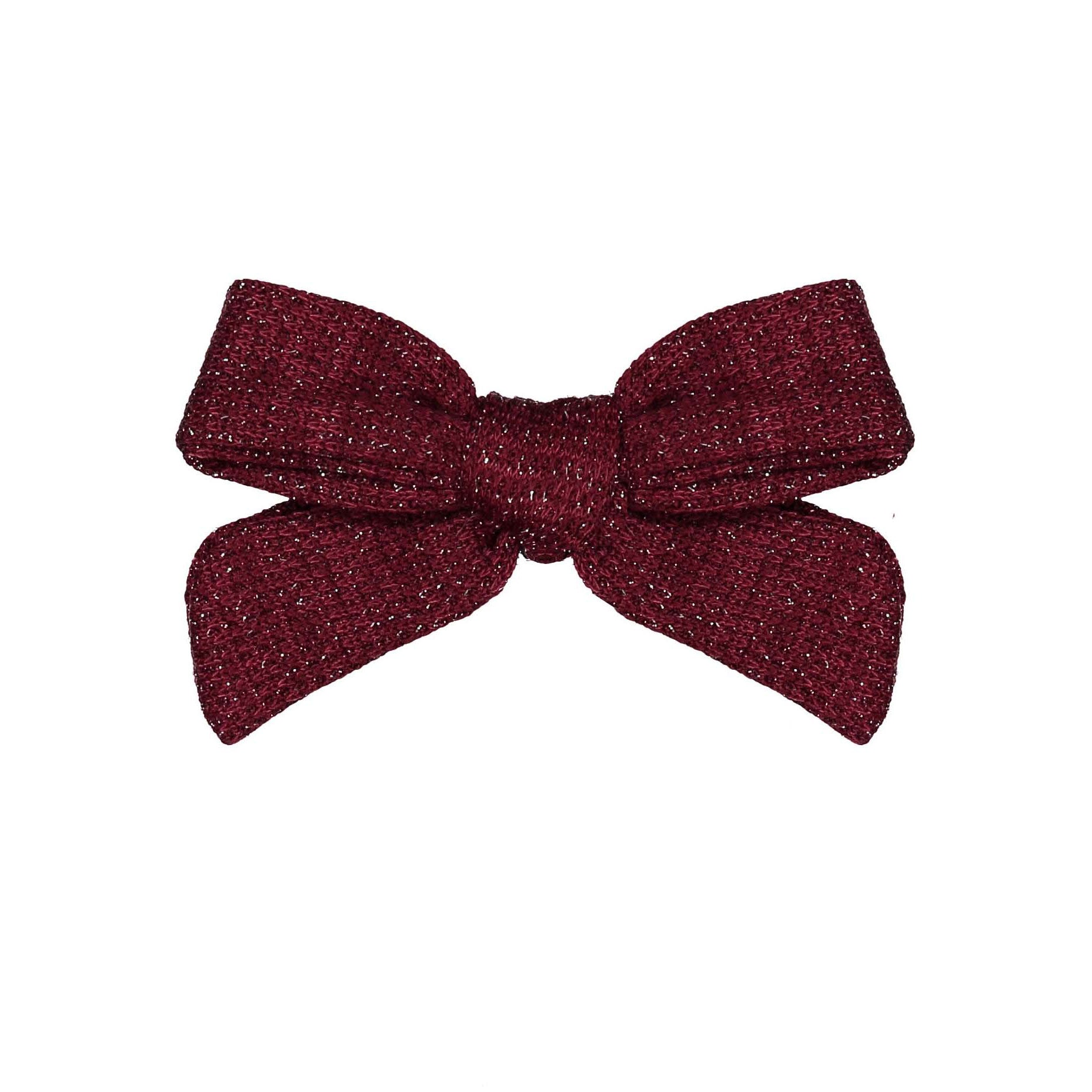 Knot Hairbands Burgundy Sweater Bow Clip