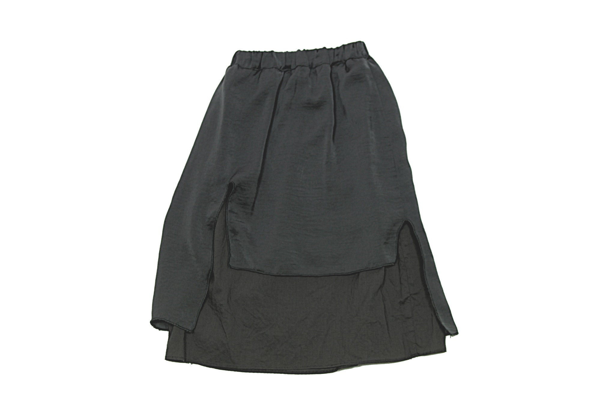 Tambere Charcoal Layered Skirt