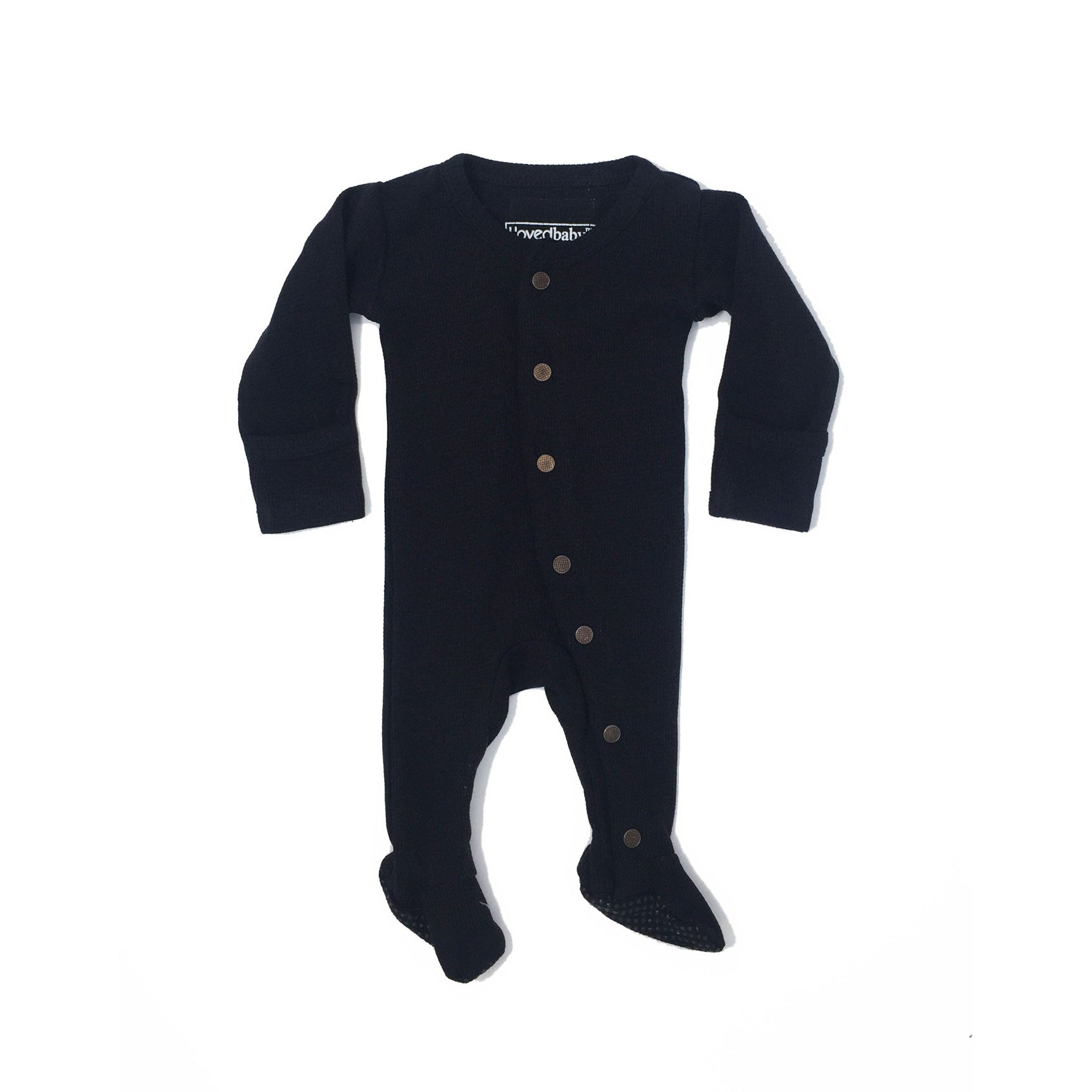L'ovedbaby Black Gloved-Sleeve Overall - Ladida