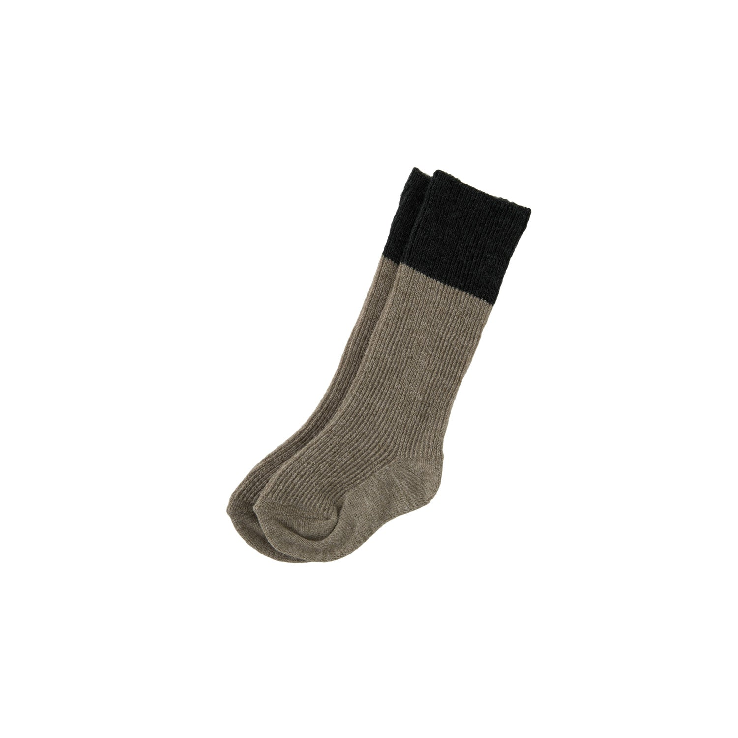 Bene Bene Beige Two Tone Ribbed Socks