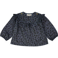 Louis Louise Blue Leopard Dona Baby Blouse - Ladida